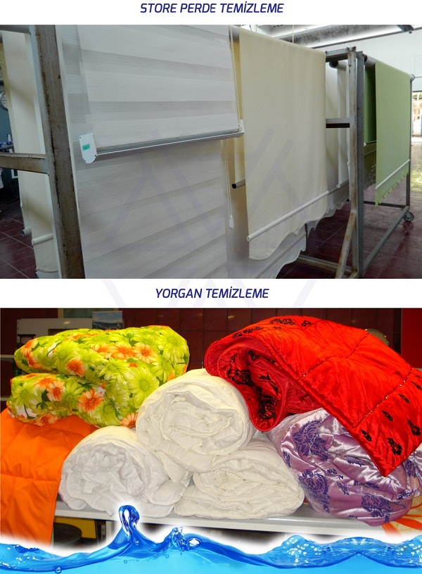 Akman perde yorgan yıkama